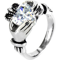 West Coast Jewelry Claddagh Ring with Large Heart in Stainless Steel | Meijer.com