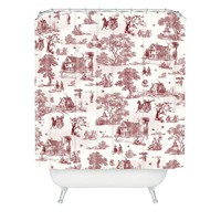 Belle13 Vintage Sunday Afternoon Shower Curtain