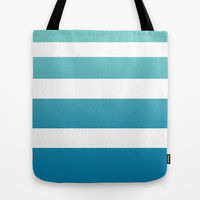 Ombre Surfer Stripe Tote Bag by Color and Form