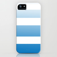 Sky Blue Faded Stripe iPhone & iPod Case by Color and Form