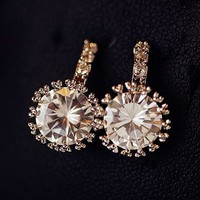 Princess Jewel Rhinestone Earrings