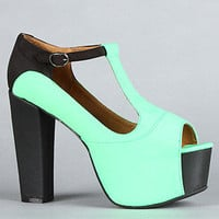 Jeffrey Campbell The Foxy Colorblock Shoe in Green and Black Neoprene : Karmaloop.com - Global Concrete Culture
