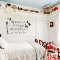 Counting Ducks Wall Quote Decal