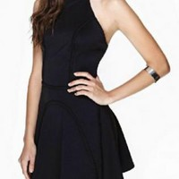 Black Out Back Sleeveless Dress