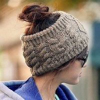 B·LEVE Winter Warm New Womens Braided Knit Wool Hat Cap Headband Hair Bands