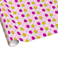 Pink Yellow and White Balloons Wrapping Paper