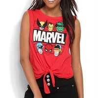 Marvel Comic Tank Top with Tie Front