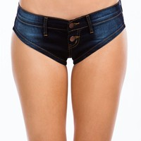 Denim Talk Double Button Shorts