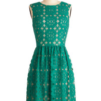 Outdoor Arpeggios Dress in Jade | Mod Retro Vintage Dresses | ModCloth.com