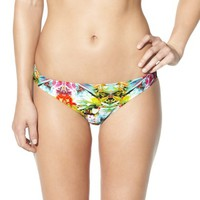 Xhilaration® Junior's Hipster Swim Bottom -Green Floral Print
