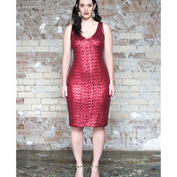 Rouge V Neck Sequin Dress