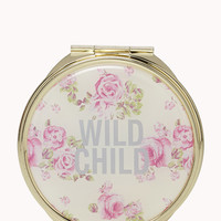 Wild Child Flower Mirror Compact