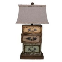 One Kings Lane - That Rustic Touch - Three Drawers Lamp