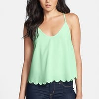 ASTR Scalloped Drape Back Tank | Nordstrom
