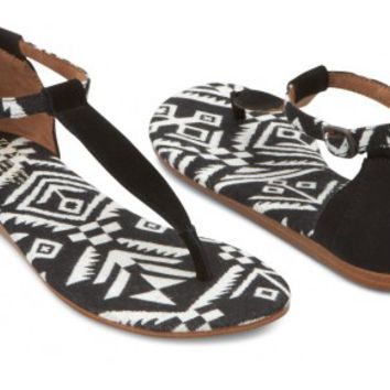 Black Woven Vegan Women's Playa Sandals