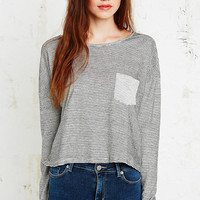 BDG Slouchy Stripe Top in Black and White - Urban Outfitters