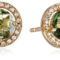 "Kalan by Suzanne Kalan ""Green Envy"" Topaz Earrings"