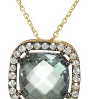 Kalan by Suzanne Kalan Green Envy Topaz Cushion Cut Necklace