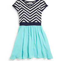 Girl's Alexi Chiffon Skater Dress