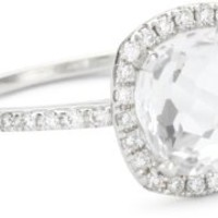 "Suzanne Kalan ""The Classics"" Cushion White Topaz Ring"