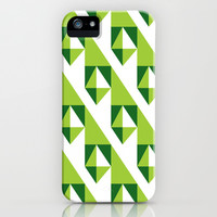 Geometric Pattern 2-Green iPhone & iPod Case by mollykd