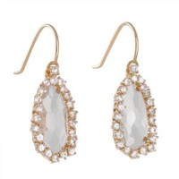 SUZANNE KALAN- Pear Halo Earrings in Rose Gold