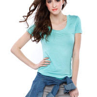 Papaya Clothing Online :: ROUND NECK BASIC TOP