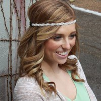 Braided Rhinestone Head Wrap