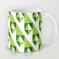 Geometric Pattern 2-Green Mug by mollykd