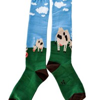 Afternoon in the Meadow Knee High Socks