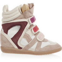 Isabel Marant|Willow leather and suede sneakers|NET-A-PORTER.COM