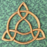 Open Triquetra-Wood Carved Artistic Variation-Traditional Celtic Knot | signsofspirit - Woodworking on ArtFire