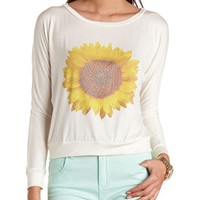 SUNFLOWER GRAPHIC LONG SLEEVE TEE