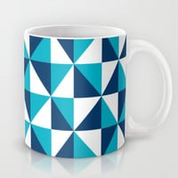 Geometric Pattern 4-Blue  Mug by mollykd