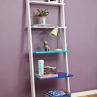 Leaning Book Shelf in Blue - Urban Outfitters