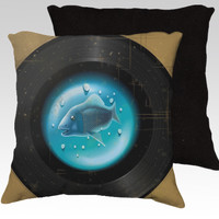 Vinyl Aquarium by Texnotropio (18x18 pillow)