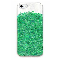 Green Leaves Illustration Plastic Case for iPhone 5/5s