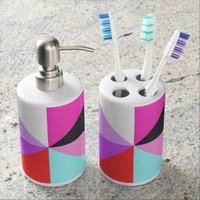 Toothbrush Holder & Soap Dispenser Set