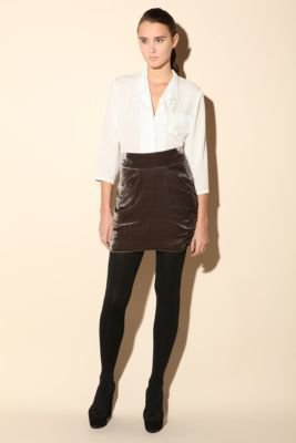 House of Dagmar Selma Velvet Skirt