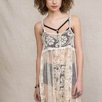 Urban Renewal Lace Front-Button Tunic - Urban Outfitters