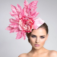 Gum Pink Fascinator headpiece by ArturoRios on Etsy
