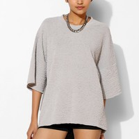 Sparkle & Fade Textured Drop-Sleeve Top - Urban Outfitters