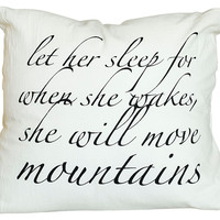 Mountains 16x16 Pillow, Ivory