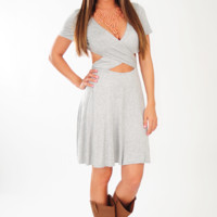 Never Giving Up Dress: Heather Grey