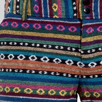 Aztec Tribal Stitched Shorts | MakeMeChic.com