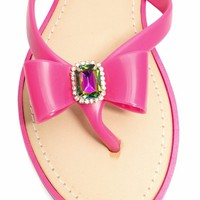 Just Say Bow Thong Sandals