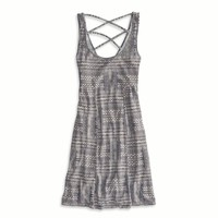 AEO FACTORY PRINTED STRAPPY BACK DRESS