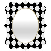 Lisa Argyropoulos Harlequin Diamonds Quatrefoil Mirror