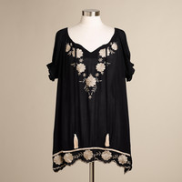 BLACK AND IVORY EMBROIDERED NARA TUNIC