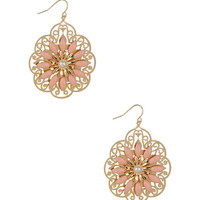Scalloped Flower Earrings